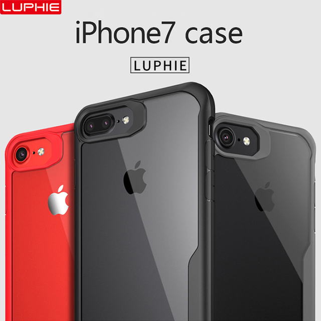 LUPHIE Shockproof Armor Case For iPhone XS XR 8 7 Plus Transparent Case Cover For iPhone 6 6S Plus 5 XS Max Luxury Silicone Case 1