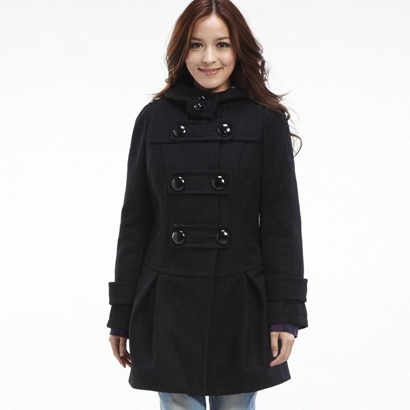 Aliexpress.com : Buy Pleat Detail Duffle Coat(WOMEN) Black from