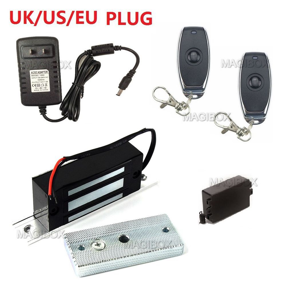 Remote Control 100lbs Embedded Magnetic Lock Mini 60KG Electromagnetic Lock + Remote Control + 12V Power Supply-in Electric Lock from Security & Protection