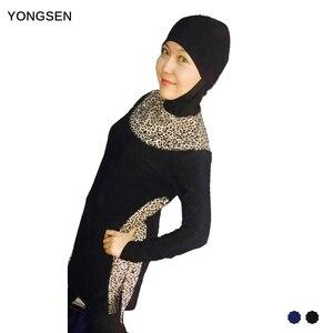 YONGSEN Fully Covered Modest Muslim Swimwear Women's Islamic Swimsuit hijab Burkinis musulman Beach swimming Plus Size