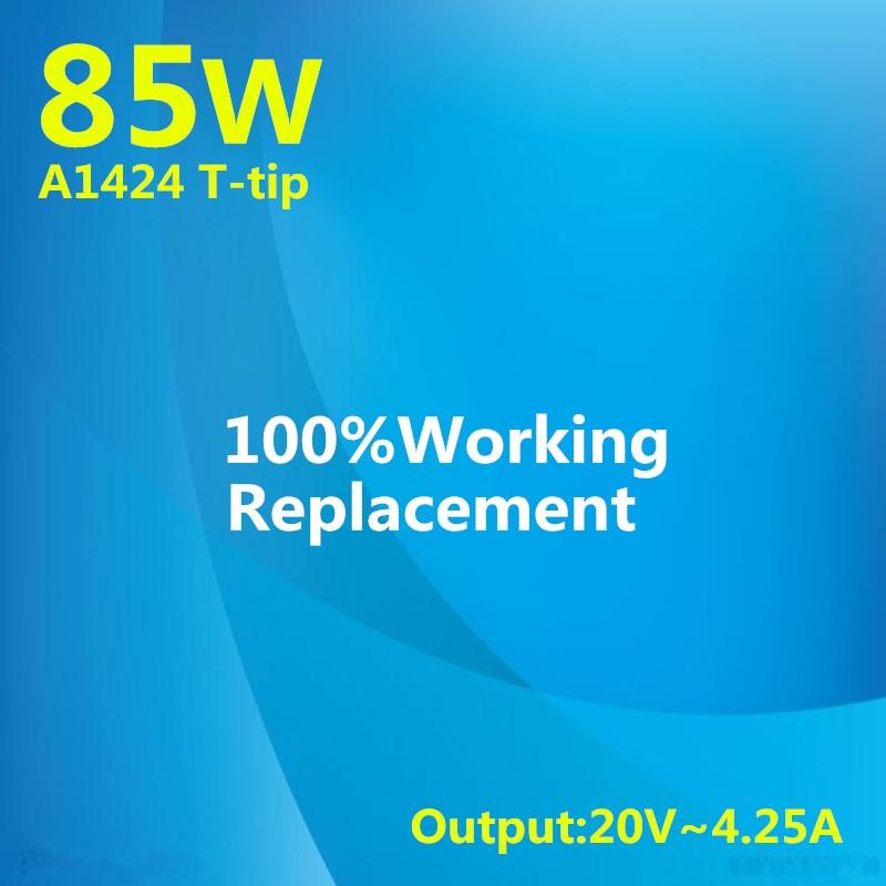 100% Novo! 20 V 4.25A 2 85 W Laptop Power Adapter Para Apple Macbook Pro Retina 15 '''' A1398 17 a1424