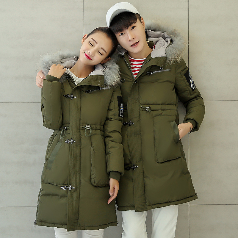 Kış Ceket Kadınlar 2016 Kar Giyim Aşağı Pamuk Yastıklı Ceketler Parka Büyük Kürk Yaka Kapüşonlu Mont Dış Giyim Artı Boyutu 3XL wt191