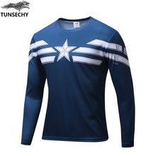 2016 New Men s Casual Comics Superhero Costume Shirt Tops T Shirts soldier Marvel T shirt