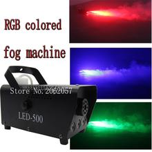 High quality LED RGB 400w colored wireless remote control smoke machine DJ disco fog machine for stage professional light все цены