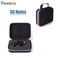 30holes 5 10ml Shock Absorption EVA Roller Bottle Carrying Case Portable Hard Shell Travel Cosmetic Bag