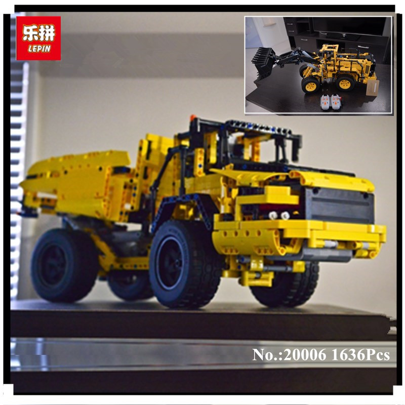 IN STOCK LEPIN 20006 1636pcs Genuine technic series Volvo L350F wheel loader Model Building blocks Bricks Compatible with 42030 lepin 20006 technic series volvo l350f wheel loader model building kit blocks bricks compatible with toy 42030 educational gifts