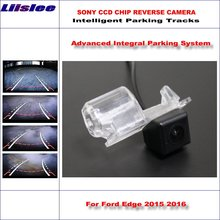 Liislee Rear Camera For Ford Edge 2015 2016 Intelligent Parking Tracks Backup Reverse / 580 TV Lines Dynamic Guidance Tragectory
