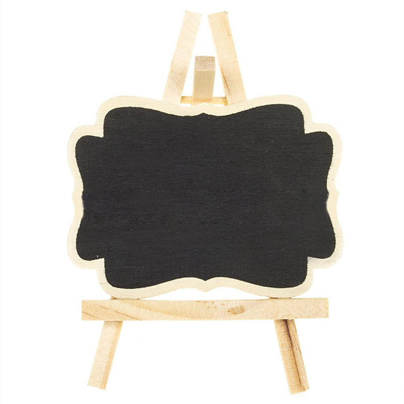 3pcs/lot Mini Wood Chalkboard Framed Chalkboard Vintage Blackboard Wooden Place Card Holder Wedding Party Decorations image