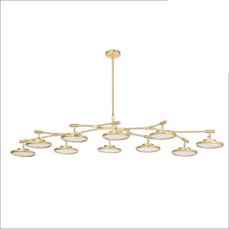 цена на Nordic Modern 10 arm Pendant Light Creative LED hanging lamps tube rod Toolery for Living room Dining room Lamp home decoration