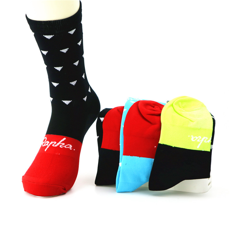 2019 New Unisex Professional Brand Sport Socks Breathable Road Bike Bicycle Socks Outdoor Sports Racing Cycling Socks Rapha