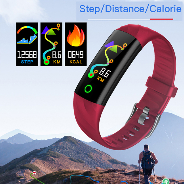 IP68 Waterproof Smart Bracelet Pedometer Heart Rate Monitor Blood Oxygen Fitness Tracker Smart Wristband Multi Sport Smart Band 2