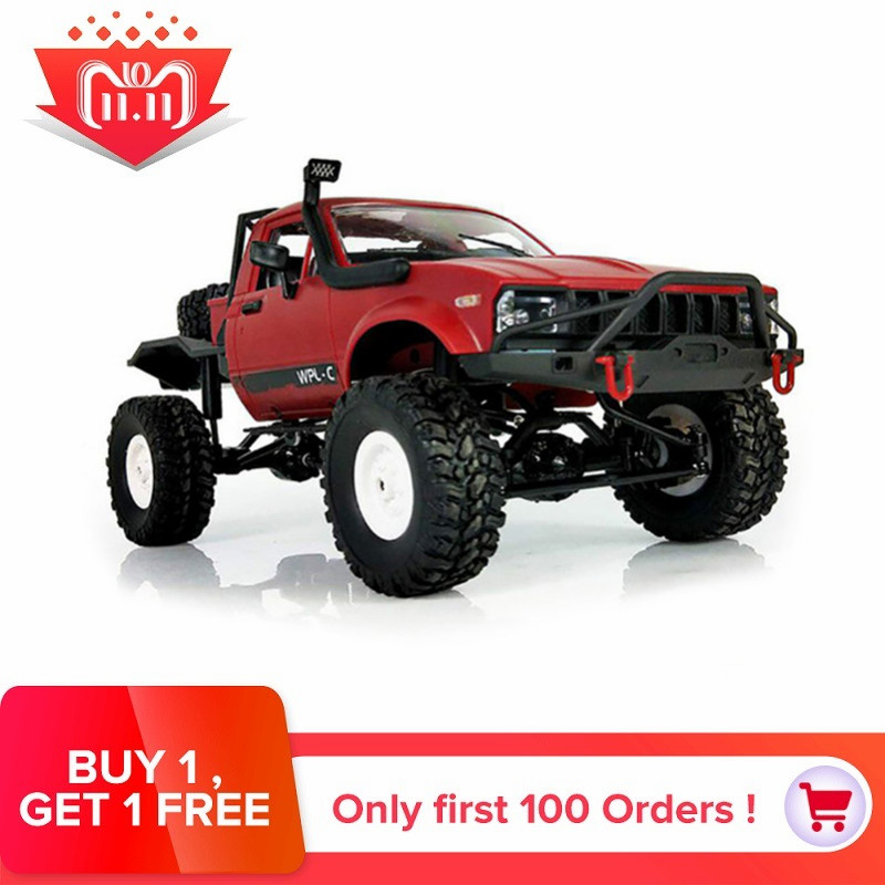 Newest WPL C14 1:16 4wd RC Truck 2.4G Off-Road Truck Electric Remote Control Car 15km/H Top Speed RTR/KIT Mini RC Racing Car Toy hsp rc car toy 1 8 scale brushless electric car 4wd rtr off road remote control rc car jeep truck high speed item no 94067