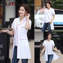 New Arrival Hospital Clinic Doctor's Clothing Long Short Sleeve Medical Clothes Beauty Salon V-neck White Lab Coat Nurse Uniform цены
