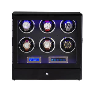 Watch-Winder Automatic with Led-Light Remote-Control Touch-Pad Drawer 6/0 Mechanical