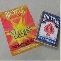 Cartas de Magic mirage cubierta bicicleta atómica tarjetas tarjetas tarjetas de trucos de magia largo y corto