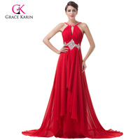 2015 Sexy Fashion Vestidos Backless Red Evening Dress Sequin Beaded Bandage Long Maxi Dress Costume Women