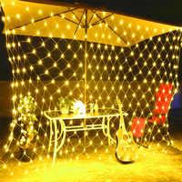 AC110-220V 1.5 m x 1.5 m rede malha led string luzes decoração ao ar livre à prova dwaterproof água luzes do feriado arte decoração casamento jardim