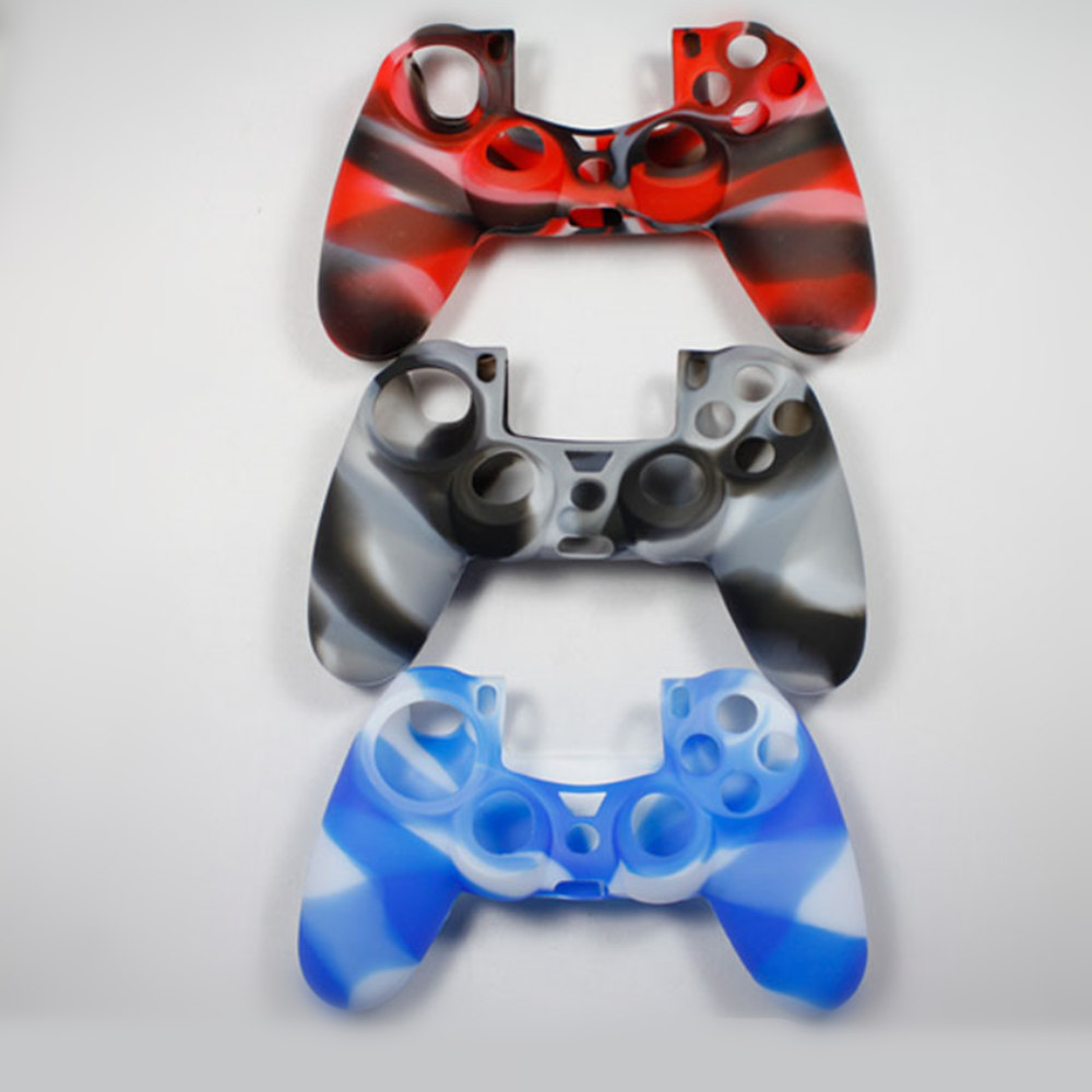 Silicone skin case For PS4 controller game joystick Protective Cover For Sony PlayStation 4 console Dualshock 4 Accessories