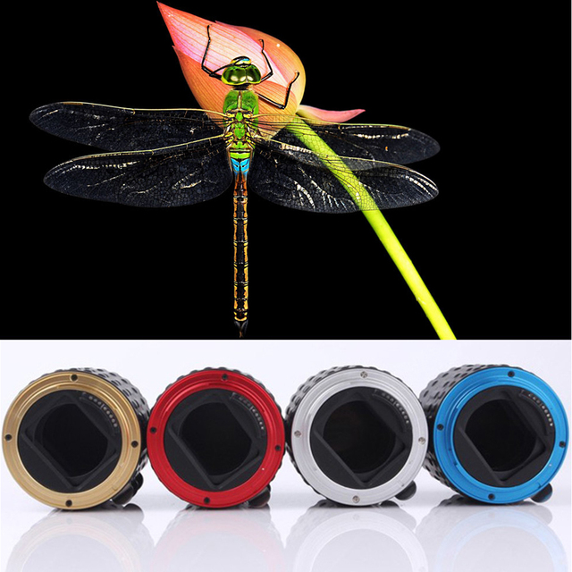 Red Blue Gold Silver Black Metal Mount Auto Focus AF Macro Extension Tube Ring for Canon EOS EF-S Lens 100D 60D 70D 550D 600D