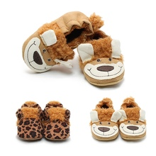 First Walkers Animals Baby Shoes Pram Newborn Toddler Baby Girls Boys