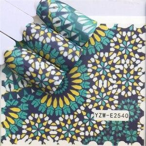 Image 2 - Wuf Nail Stickers Water Decals Vlinder Bloemen Dier Zwart Wit Geometrie Slider Manicure Nail Art Decoratie