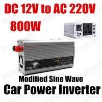 Groothandel transformator modifier sinus 12 V DC naar AC 220 V Auto Auto Omvormer Converter Adapter 800 W