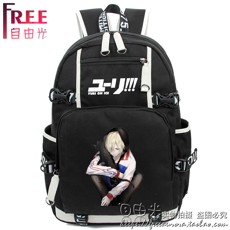 Anime YURI!!! on ICE Cosplay Yuri Plisetsky Cos backpack student computer bag travel bag Birthday Gift цена