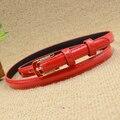 Women's strap red Women oil thin all-match belt waist of trousers belt female
