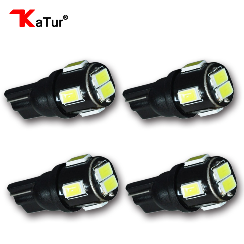 4 Pieces Bright Hot Sale T10 W5W 168 Led 6 5730 5630 6Smd 6Led SMD Auto Car LED Tail Signal Light Lamp Bulb For White DC 12V h1 super bright white high power 10 smd 5630 auto led car fog signal turn light driving drl bulb lamp 12v