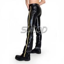 Suitop0.6mm latex jeans for men