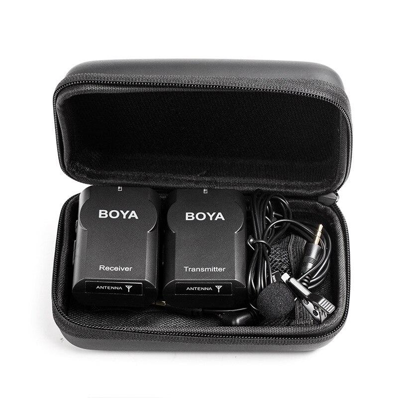 Boya BY-WM4II profissional microfone sem fio omnidirecional lavalier mic para canon dslr gravador para iphone 5 6 microfones