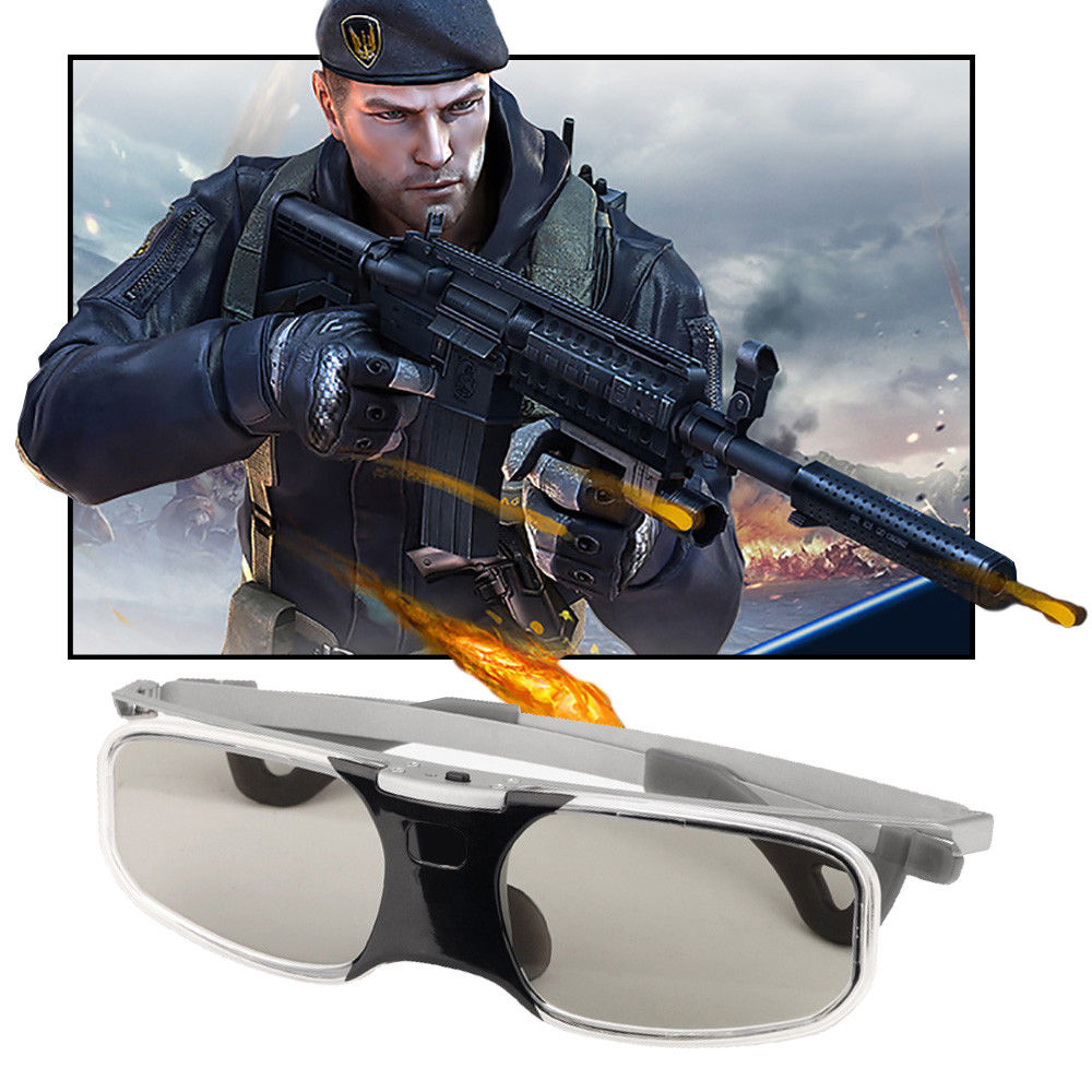 Bluetooth 3D Glasses Active Shutter USB Rechargeable for 3LCD Epson projector Sa