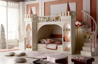 Muebles De Madera Para Quarto Nightstand Luxury Baby Beds Literas Children's Bedroom Furniture Girl Princess Castle Bunk Bed