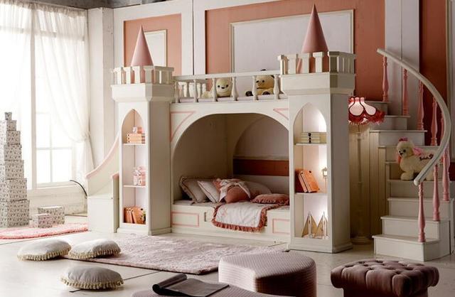 muebles madera para quarto nachtkastje luxe baby bedden literas kinderen slaapkamer meubilair meisje prinses kasteel stapelbed