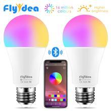 Беспроводная Bluetooth 4,0 умная лампа светодиодный волшебный RGBW лампы для домашнего освещения 10 Вт E27 изменение цвета Затемнения AC85-265V применяются к IOS Android