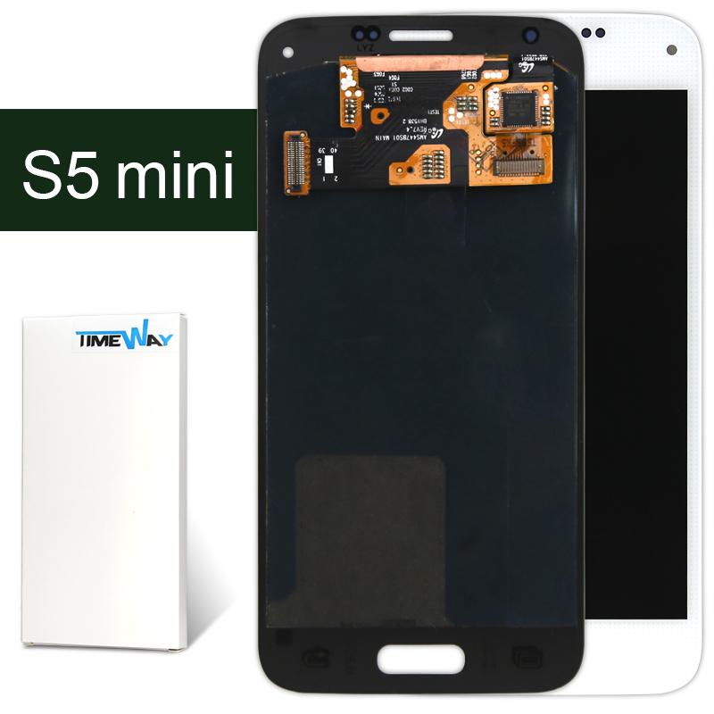DHL 5pcs For Samsung s5 mini LCD Display Touch Screen Digitizer Assembly White Free Shipping
