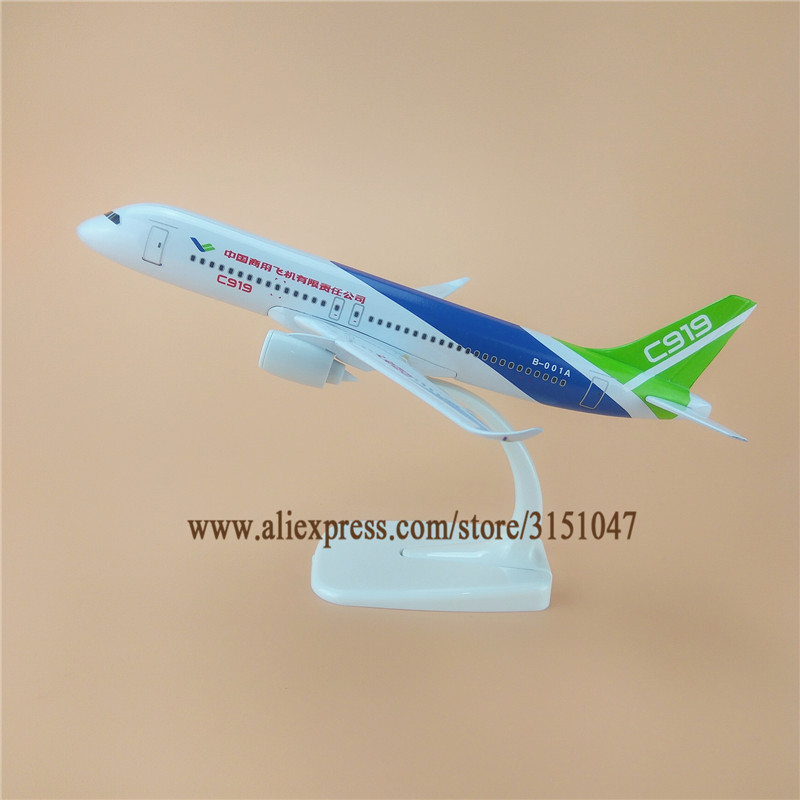 20cm Alloy Metal Air COMAC C919 China Commercial Aircraft Corporation Airlines Plane Model Aircraft Airplane Model w Stand Gift model aircraft
