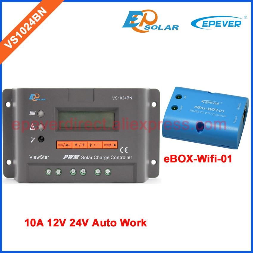 купить display controller PWM EPEVER solar regulator VS1024BN 10A 10amps with wifi BOX wireless commmunication function по цене 3873.14 рублей