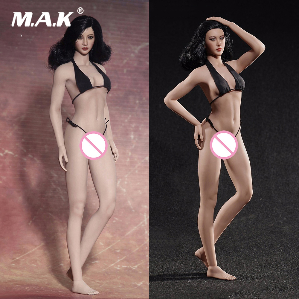 Doll-Toys Action-Figure Kumik-Head Body Female Sexy Super-Flexible for Seamless Breast-Suntan/pale