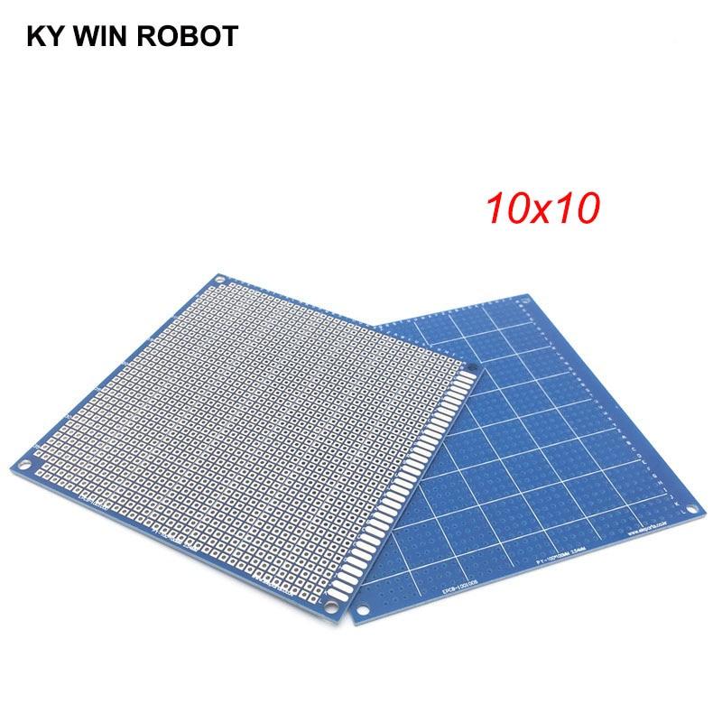 1 шт. 10x10 см 100x100 мм синий Односторонний Прототип PCB универсальная печатная плата прототип для Arduino