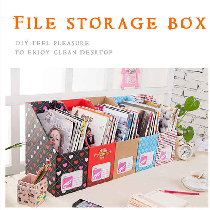 New Practical Cute Desk Fileagazines Organizers Office Storage Box Multi Pattern 14 24 36cm In Bo Bins From Home