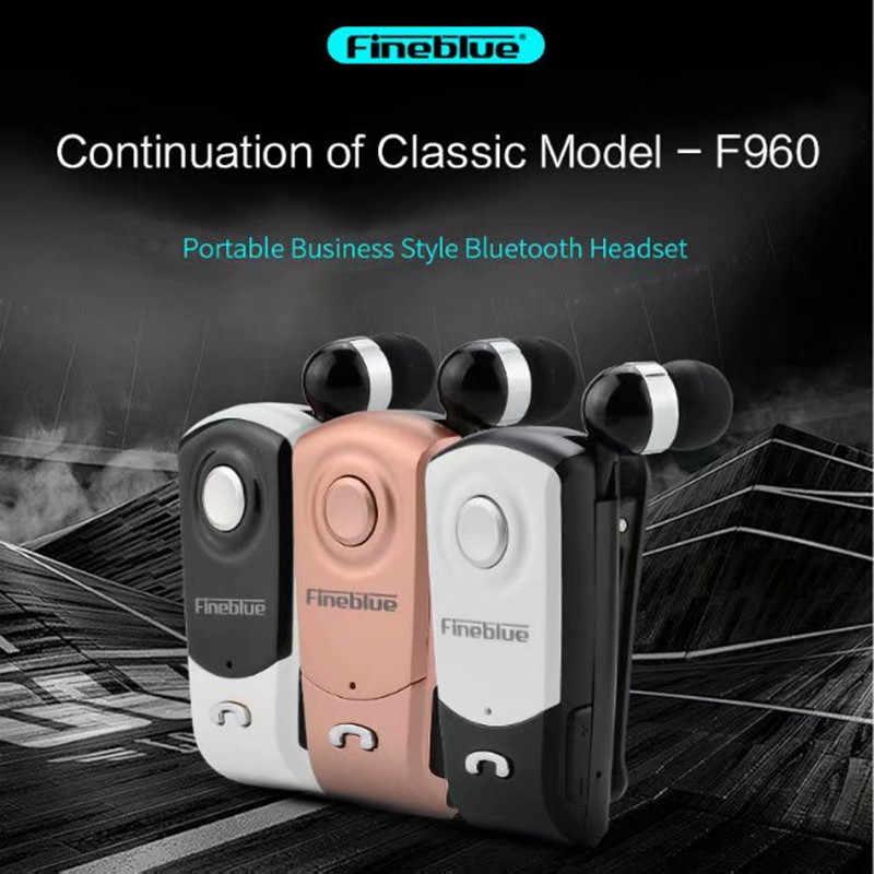 Fineblue F960 Bluetooth イヤホンワイヤレスハンズフリーインナーイヤーヘッドセットマイク通話思い出させる振動摩耗クリップドライバー
