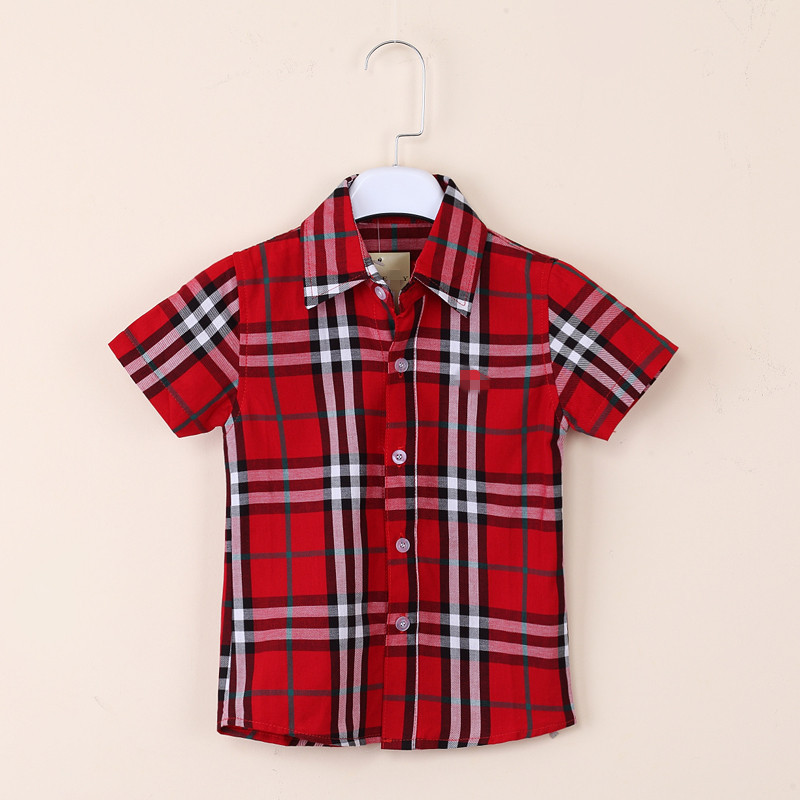 Everweekend Cute Boys Plaid Summer Tees Lovely Kids Western Fashion New Tops