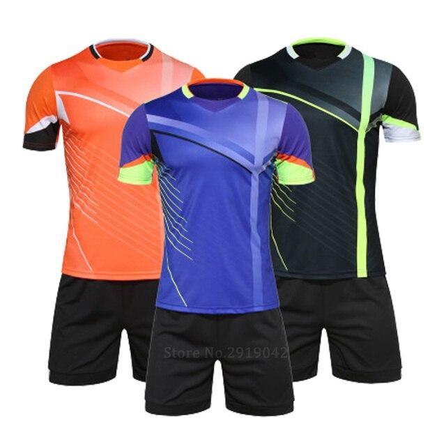db99b8e52 men European sizes soccer jerseys football training suit custom home and  away team logos football kits soccer uniforms