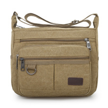 лучшая цена Casual Canvas Men Small Shoulder Bag Satchel Vintage Retro Crossbody Sling Bag For Men Leisure Male Messenger Bags Handbag