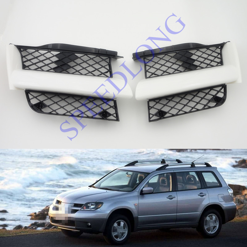 Фото 2 Pcs/Pair Front Face Bar Grille Grill Right + Left Side for Mitsubishi Outlander 2003-2006 . Купить в РФ