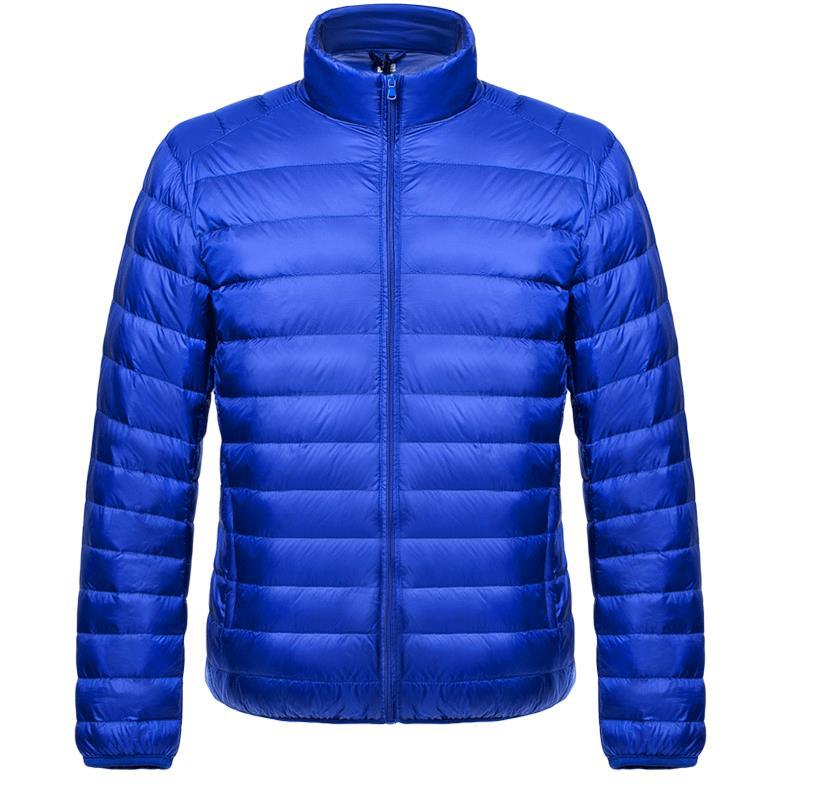 Winter Autumn man Duck Down Jacket Ultra Light Down Winter Jackets Men Stand Collar Outerwear Coat Long Sleeve