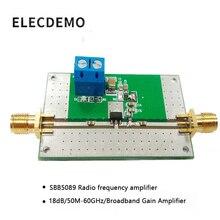 SBB5089 מודול RF מגבר כוח מגבר 50 M 6 GHz פס רחב 20dB רווח פונקצית הדגמת לוח