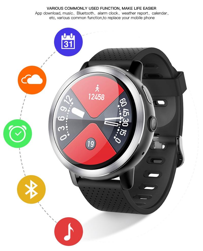 LEMFO LEM8 4G Smart Watch Android 7.1.1 GPS Smartwatch Men 2GB 16GB 580Mah Battery 1.39 Inch AMOLED Screen Sport Watch 16