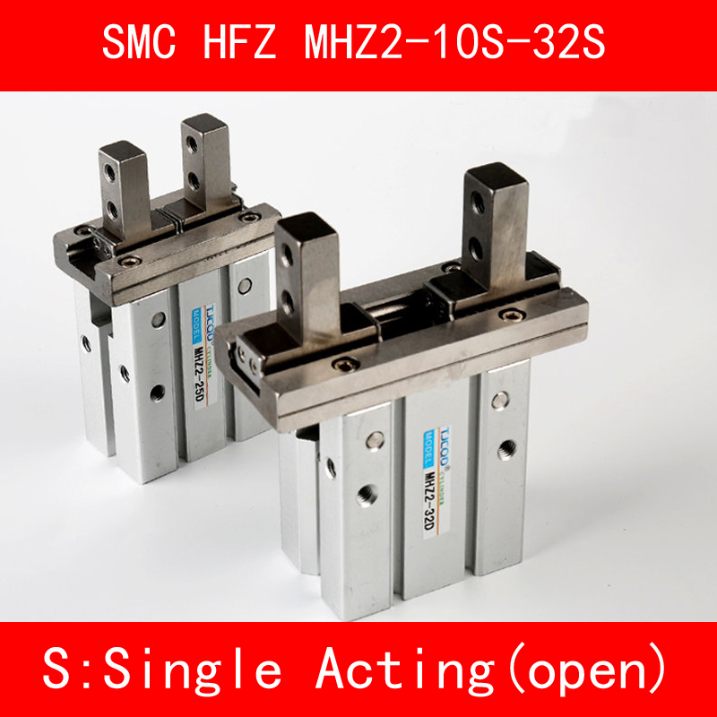HFZ MHZ2 10S 16S 20S 25S 32S Single Acting Normally Open Mini Grippers Pneumatic Finger Cylinder SMC Type Aluminium Clamps free shipping 10pcs a3140v sop